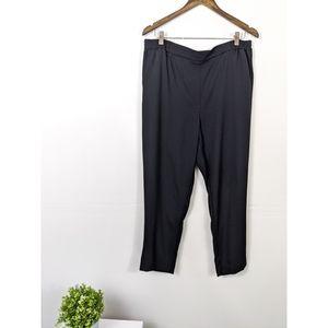 Anthropologie Essential Pull On Trouser Black LG